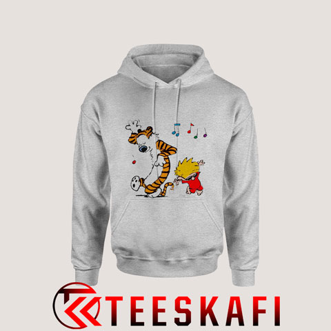Hoodie Calvin And Hobbes Red