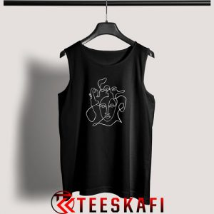 Tank Top Abstract Faces Unisex