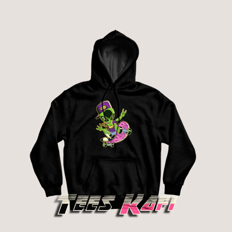 Alien On A Skateboard Hoodies
