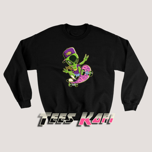 Alien On A Skateboard Sweatshirts